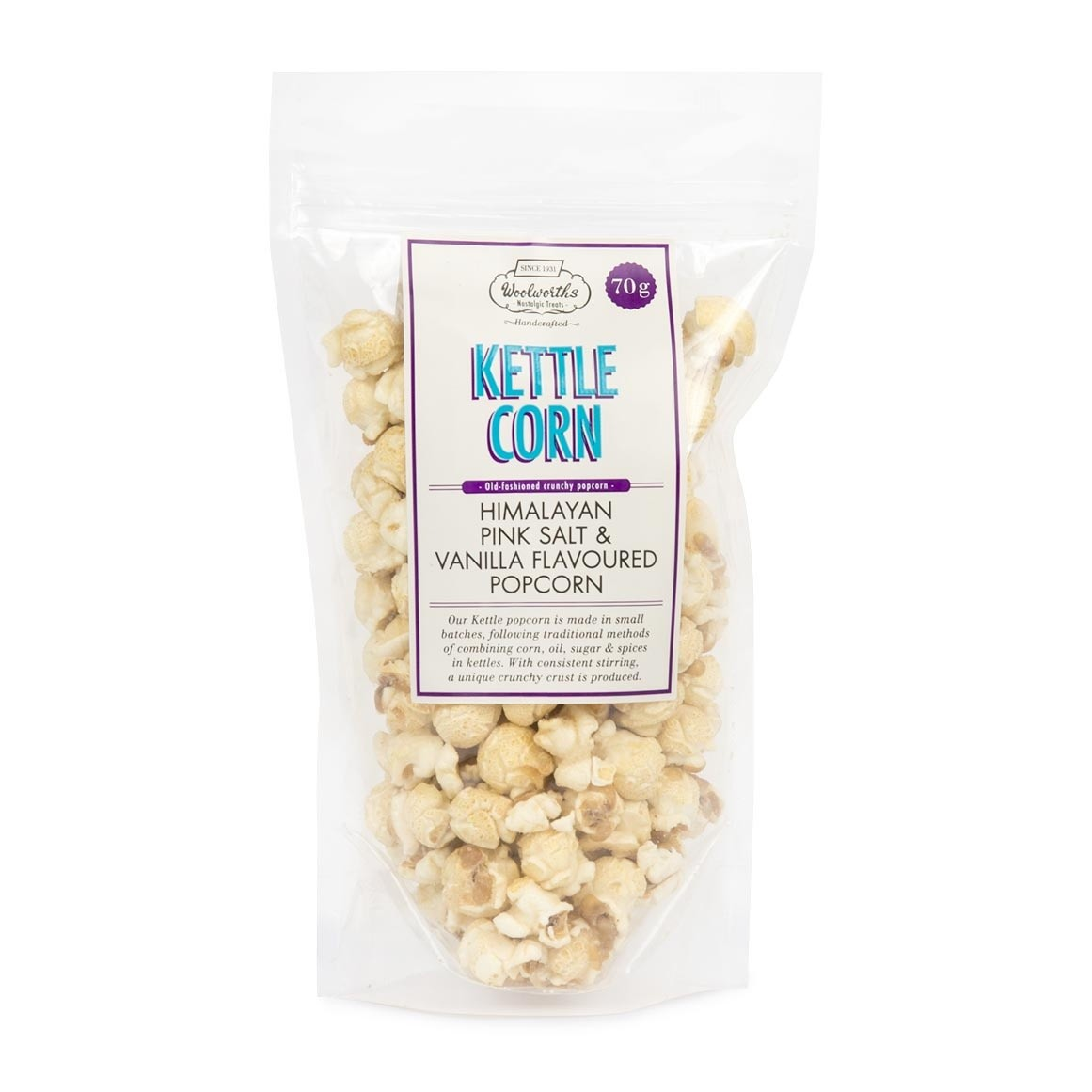 Woolworths Himalayan Pink Salt Vanilla Popcorn